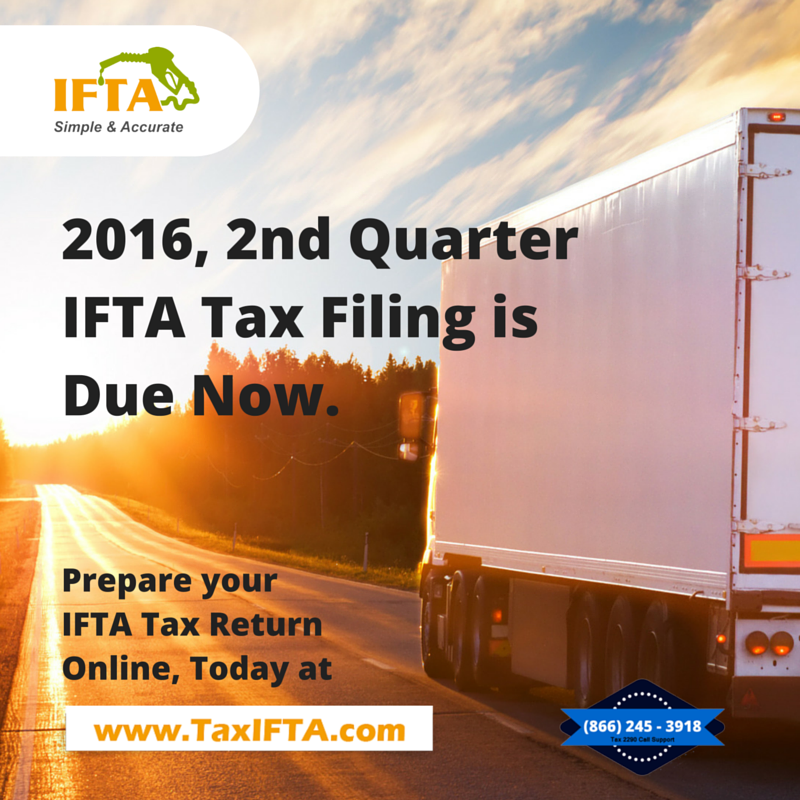 2nd Quarter IFTA Tax Filing is due now