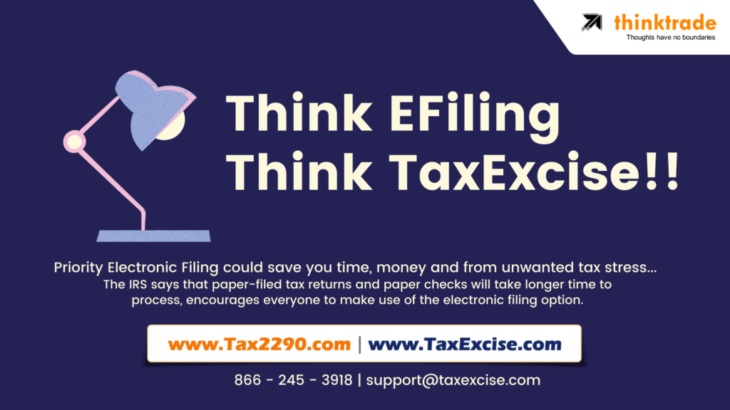 think efiling at TaxExcise